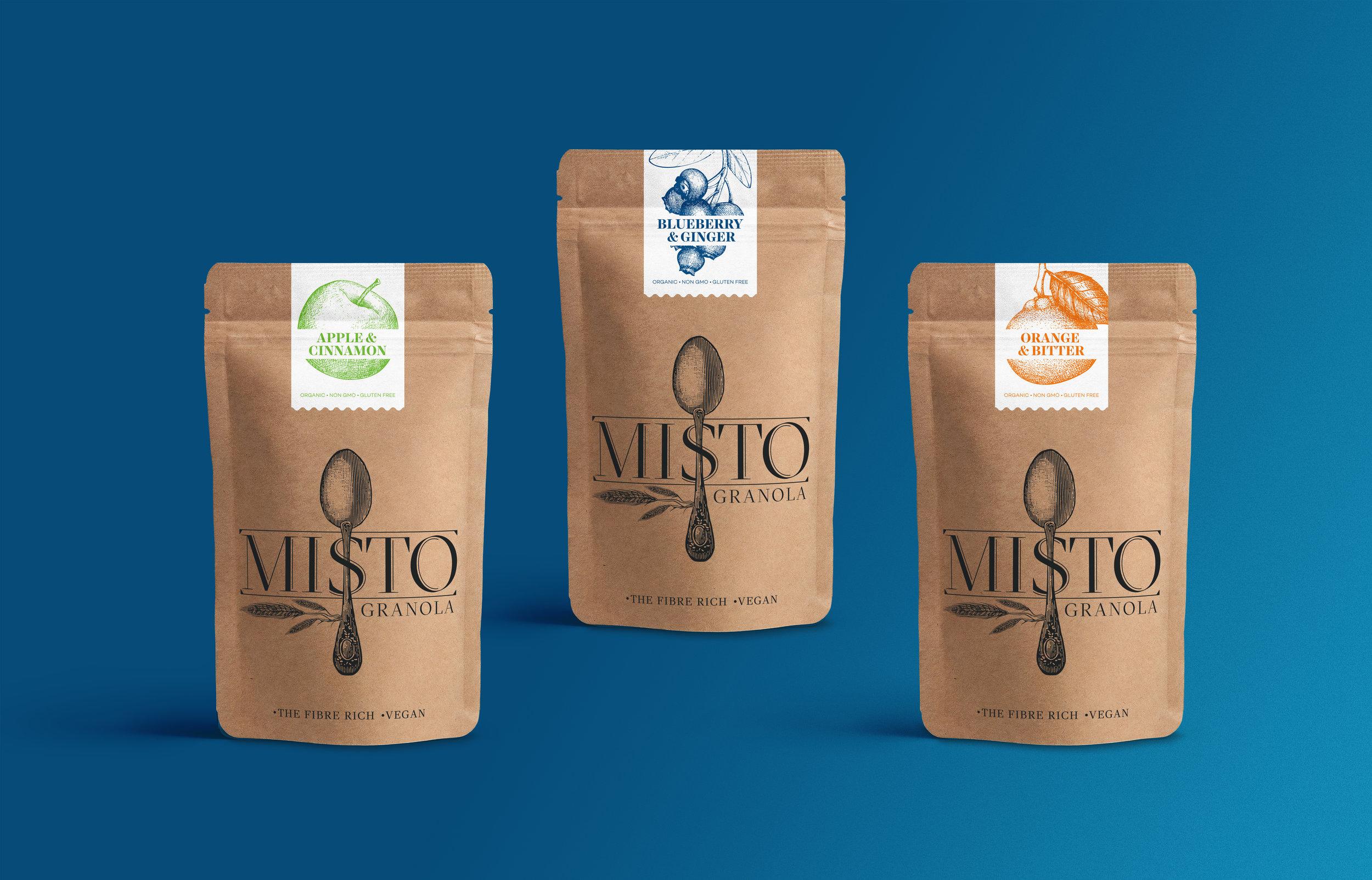 misto granola packaging design gokce sen