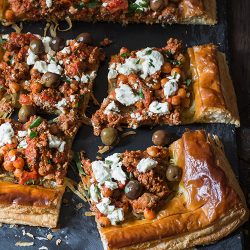 Greek Lamb Tart
