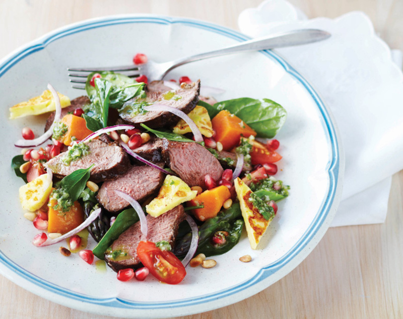 SPICED LAMB, VEGETABLE & ISRAELI COUSCOUS SALAD