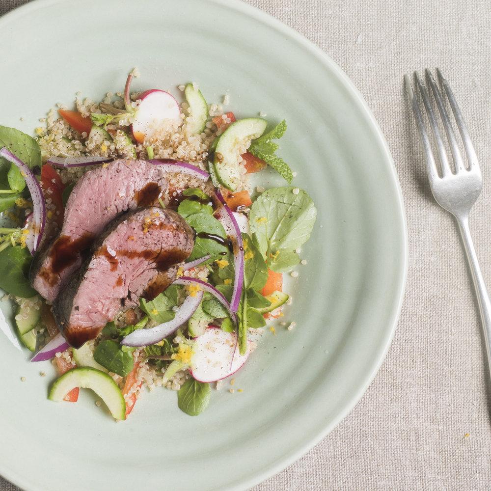 Lamb quinoa salad