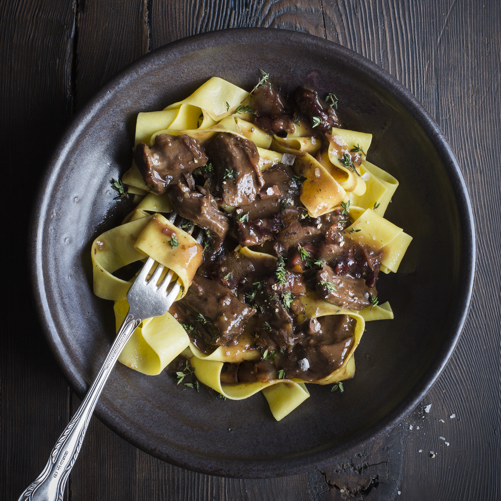 Ragout on Pappardelle