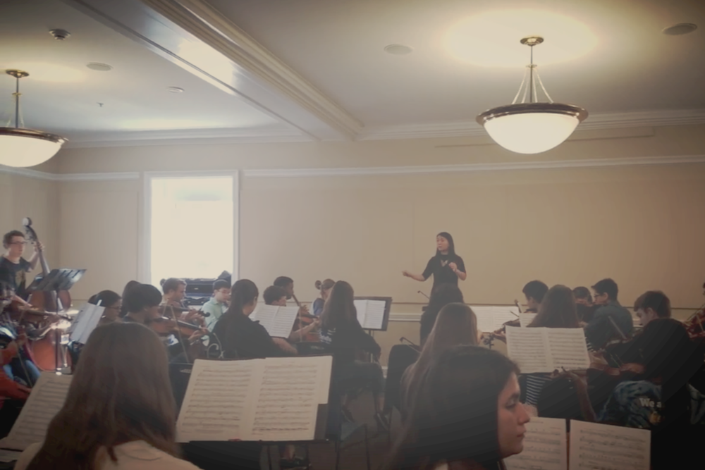 Rehearsal - Information about rehearsal times, locations, conductors, and pieces
