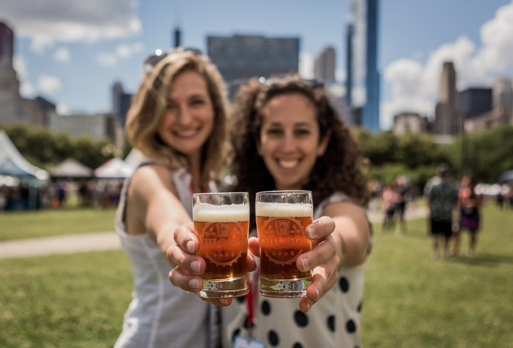 five sought after breweries you can only get at the festival, because they aren't available in Chicago -