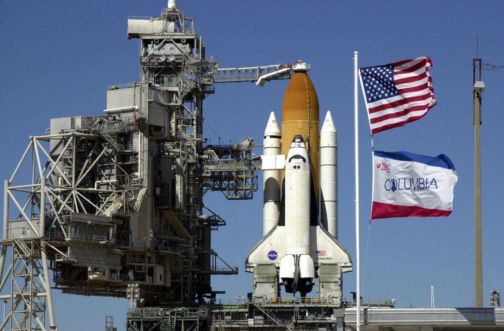Columbia na base de lançamento. Foto: Wikipedia