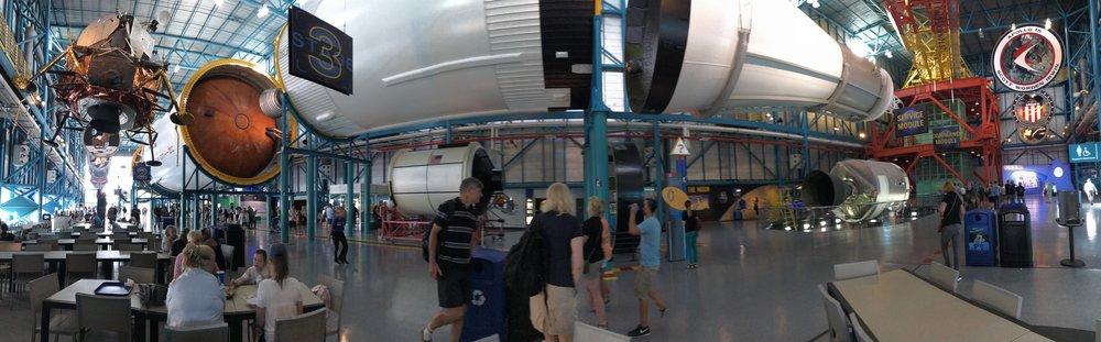 Foguete Saturn V. Foto: Victória Bernardes