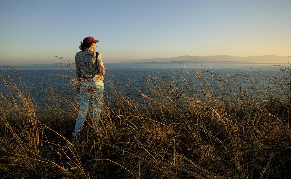 Christine Olsenius - At San Juan Island National Historical Park, San Juan Island, Washington