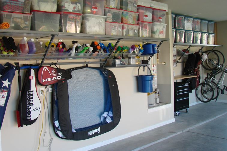 garage - Organize and keep as much off the floor as possible to make the space feel open and large