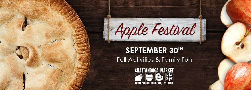 It's prime time for APPLES at the Chattanooga Market! Local really is better and you'll taste the difference. Apple cake, apple jelly, apple pie, even apple candles – you get the idea! Plus, fall activities for the whole family!  Located at The Chattanooga Market, 1829 Carter St, Sunday, September 30th, 2018 from 11AM - 4PM.