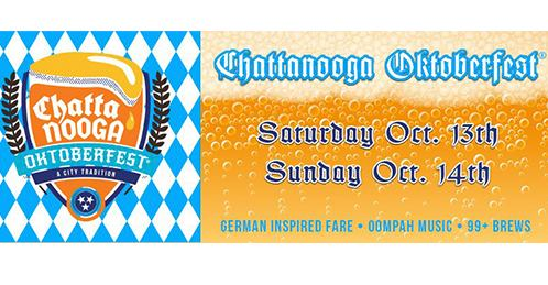 Saturday, October 13th & Sunday, October 14th – Chattanooga's oldest and largest Oktoberfest celebration, our 2-day festival draws crowds locally and regionally each year. Come to enjoy the sights, smells, and sounds of the German traditions and bring your family for a day of entertainment, shopping, and a chicken dance or too!  The festival includes an array of German traditions: brats and other German culinary foods, a biergarten featuring over 99 local and season craft brews, and Oompah Bands. Don't miss the Mr. & Ms. Chattanooga Oktoberfest® Contest at the front stage Saturday evening to see who will be crowned for 2018.  A family-friendly event, Chattanooga Oktoberfest® has become an annual tradition for many.  NEW!  Oktoberfest Chattanooga Challenge  pairs an amazing bike ride with the best beer festival in the Southeast, making October 13-14 the perfect weekend to cap off the cycling season! Choose between a full 100-mile century or a 50-mile half-century and see why Chattanooga is the Cycling Capital of the East!  Also NEW this year is our VIP Festhalle Experience! Visit  https://chattamarket.wufoo.com/forms/vip-festhalle-pass/  for more information!