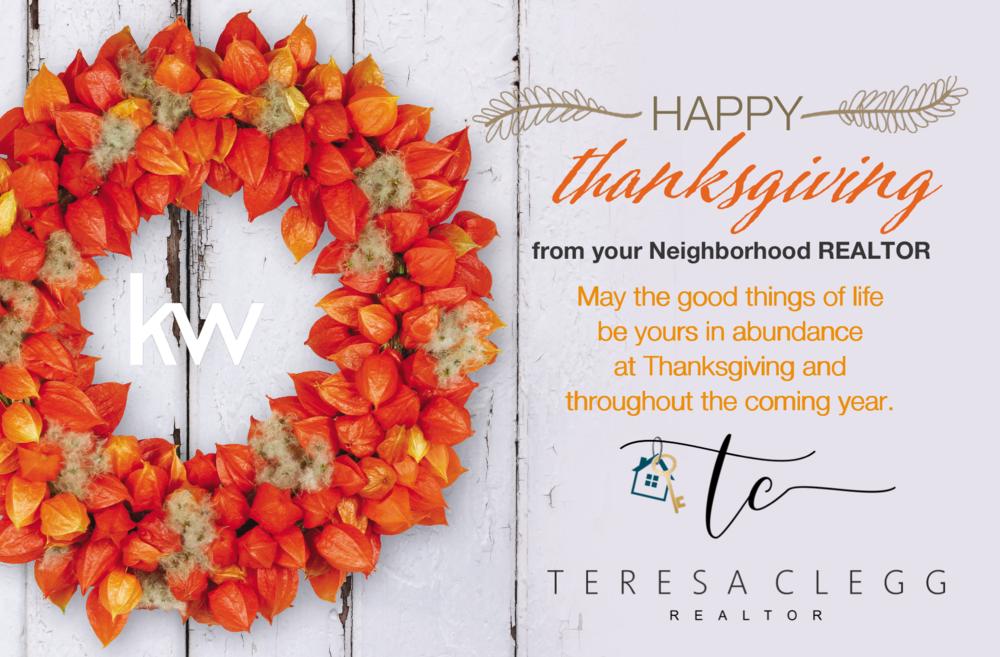 happy thanksgiving teresa clegg realtor chattanooga