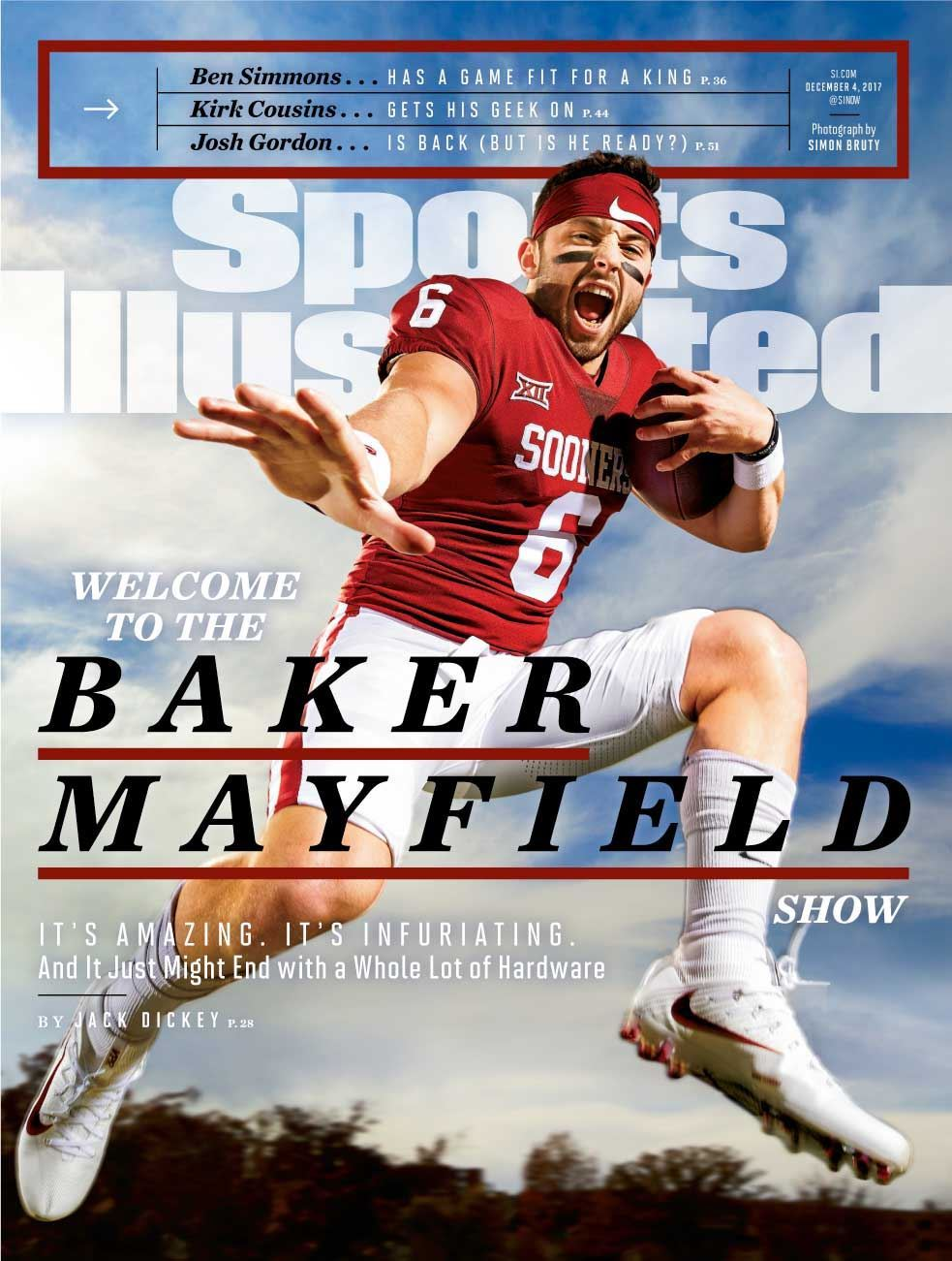 """ Welcome to the Baker Mayfield Show "" (SI, Nov. 2017)"