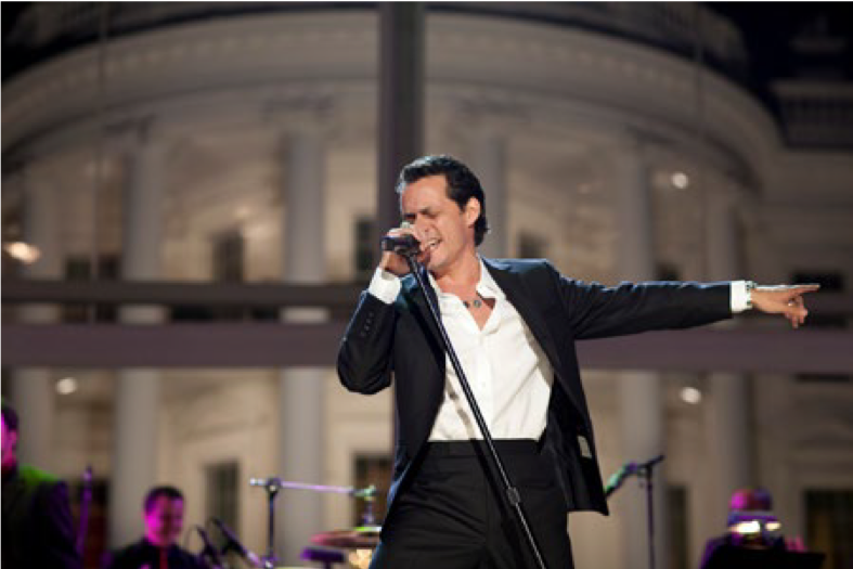 Marc Anthony Performance at the White House