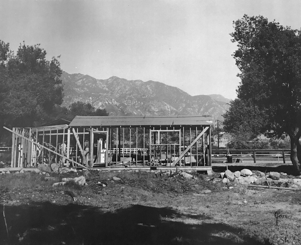 Building the clubhouse, early 1950's