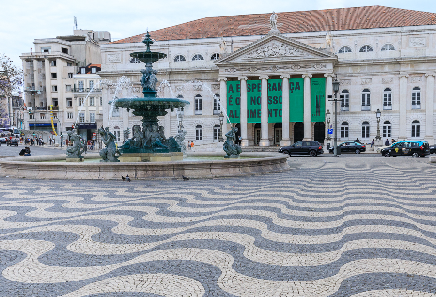 The Rossio Square with the mesmerizing wavey pattern