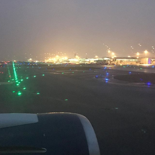 Welcome to CDG! It's early; it's grey; it's wet and it's a crispy 2°C! Forecast - by 9am we'll have snow...