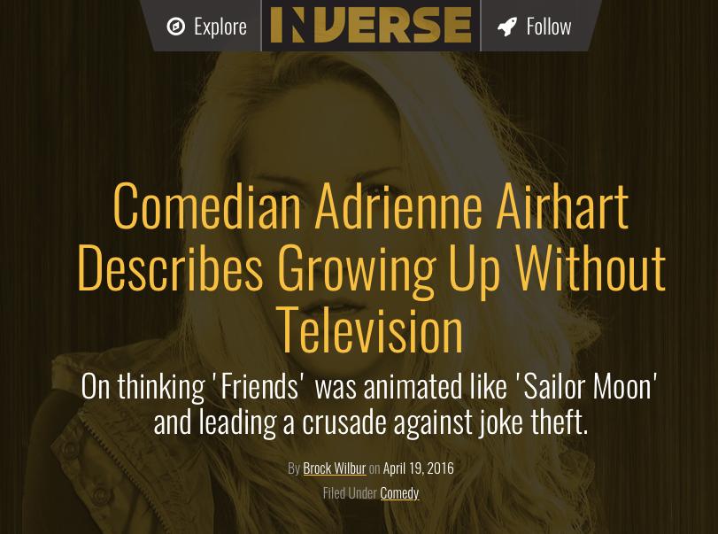 adrienne is a weirdo, via inverse and brock wilbur -