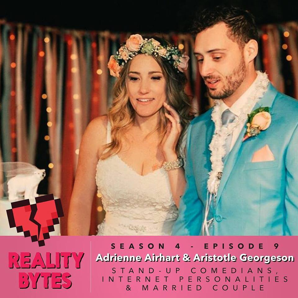 Adrienne and husband Aristotle Georgeson guested on the Reality Bites Podcast, run by Sofiya Alexandra, Courtney Kocak, and Dave Rankin, to discuss their marriage, psychedelics and choosing to stay with each other.