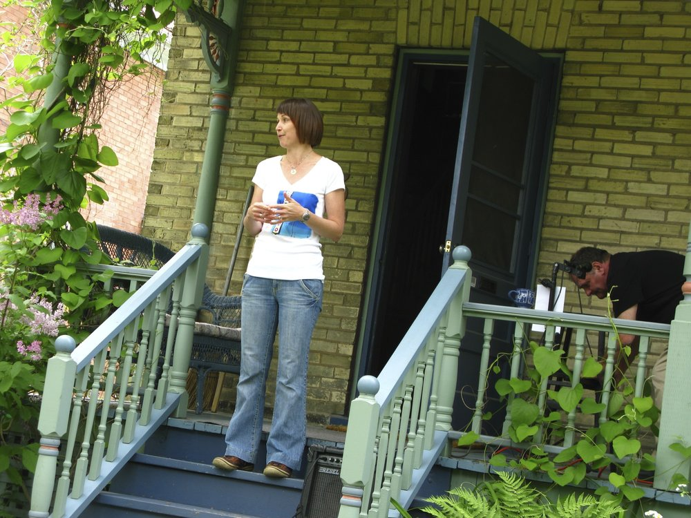 Launching the first Grand Porch Party in 2011.