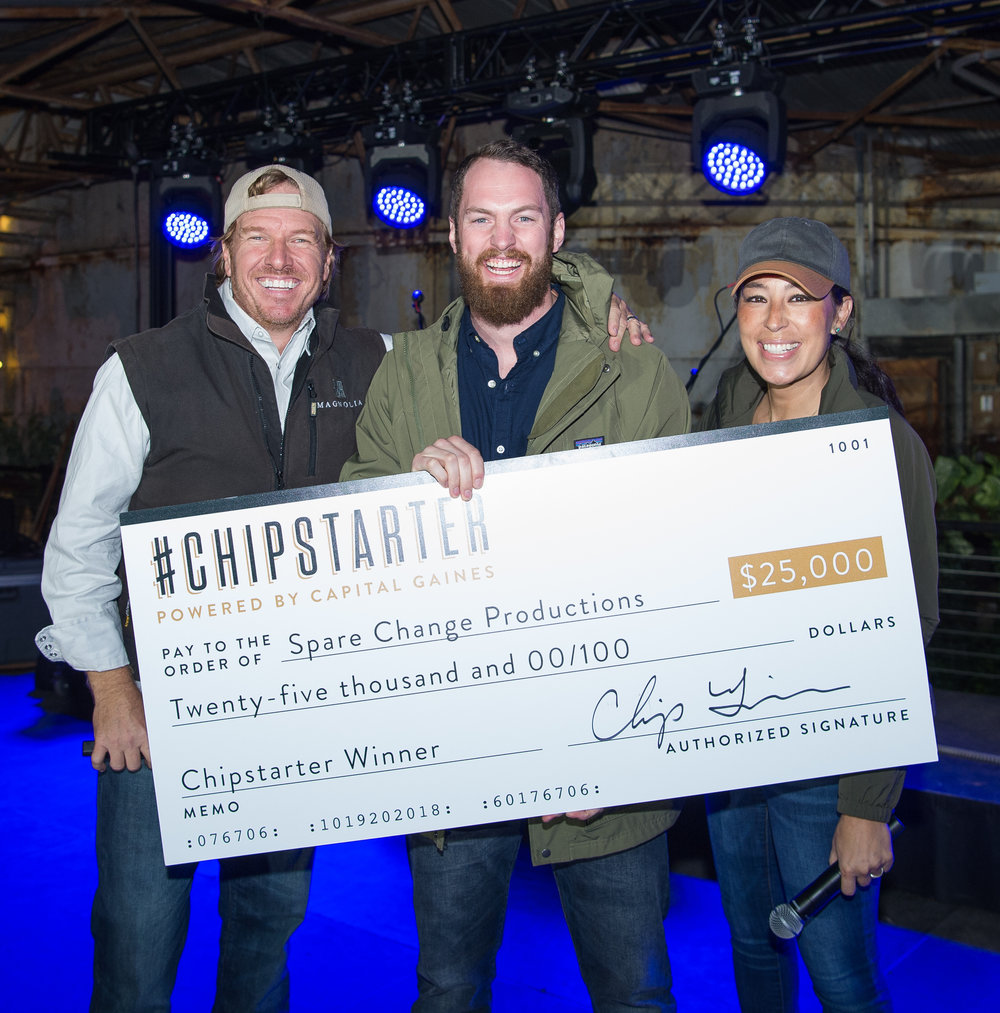 FROM THE STREETS OF PITTSBURGH TO THE SILOS IN WACO - Out of 3200 submissions, Spare Change was chosen by Magnolia's Chip and Joanna Gaines as a 2018 Chipstarter Winner.Watch Josh's trip to Texas in Episode 16 of Spare Change.