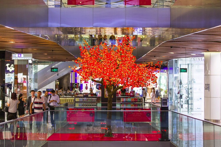 Skyline 17ft Maple Tree inside a Shopping Mall