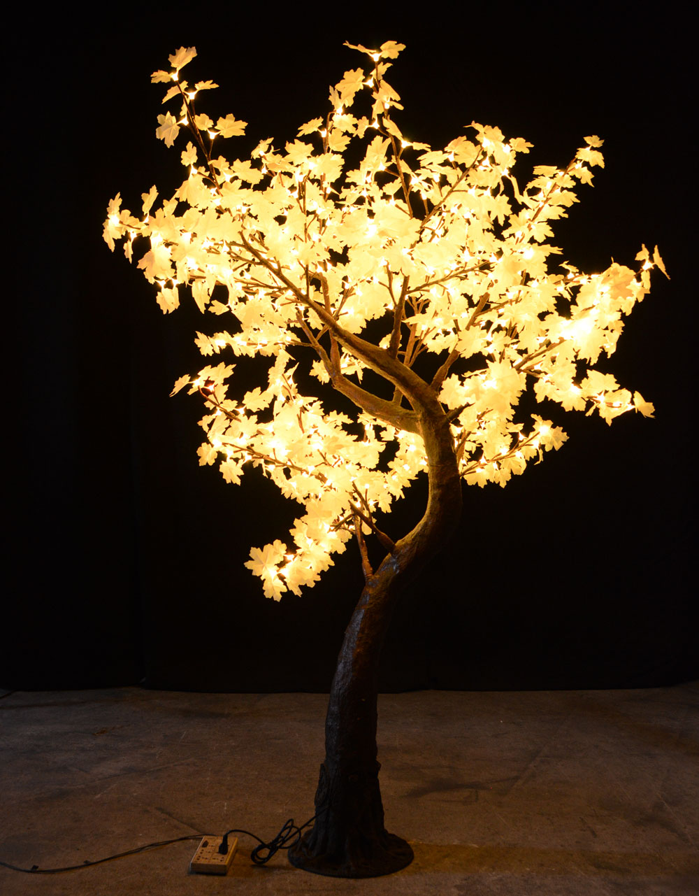 7Ft Crestone - 7' trees are ideal on a roof terrace or for framing an entrance.They are suitable for indoors and out.  The trees can be dimmed if desired with a dimmer switch.The tree is 7feet tall and 5.5feet in diameter.  It has 480 LEDS on 10 branches and is only 26 watts.