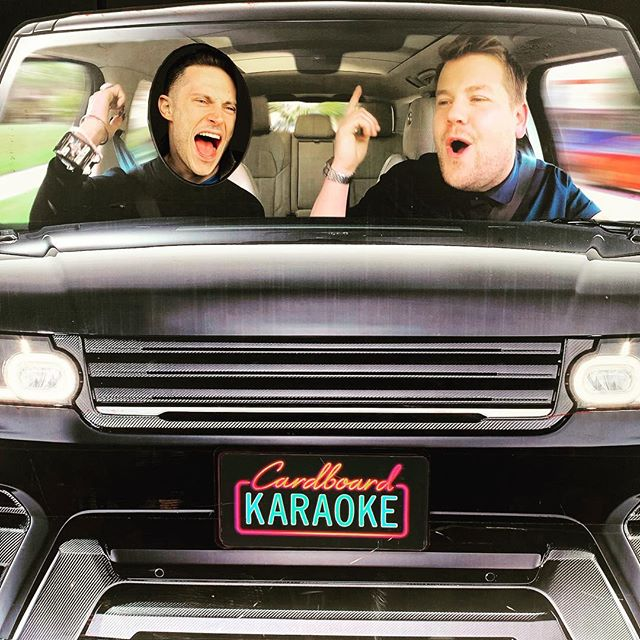 What song do you think I'm singing?? You might see me in the audience of tonight's show (or on stage if they realize I am a 2020 presidential candidate!) #jamescorden #thelatelateshow #carpoolkaraoke