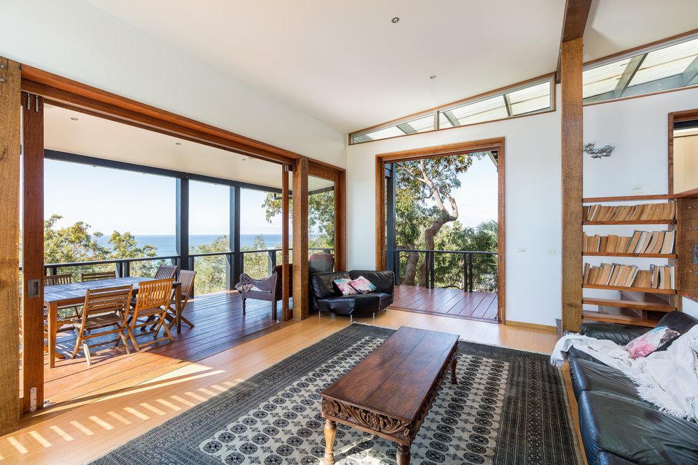 lounge room beach view