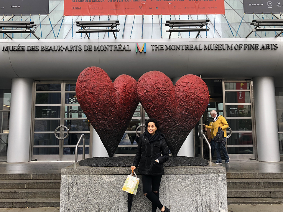 Exhausted but Happy in Front of the Musee Des Beaux Arts De Montréal