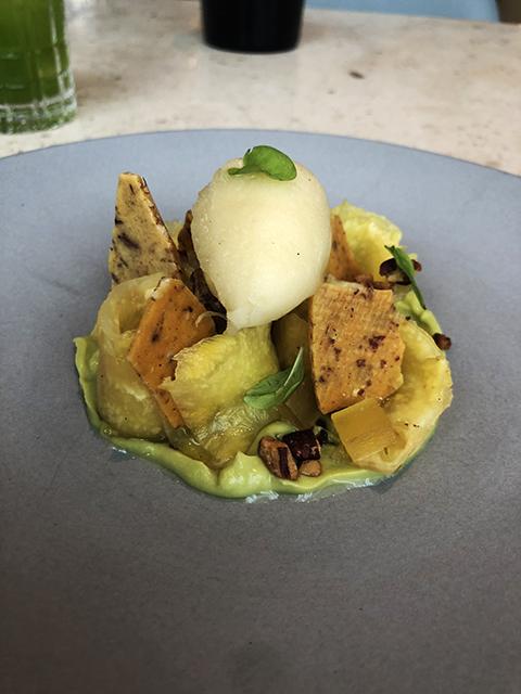 Pineapple and Avocado Dessert at Botanist