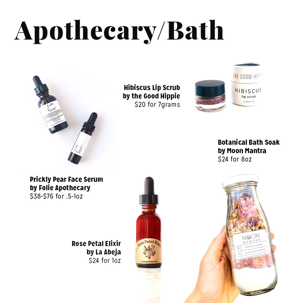 Product Links:  https://www.etsy.com/shop/FolieApothecary?ref=shop_sugg  https://store.shopeast.co/collections/apothecary/products/the-good-hippie-hibiscus-lip-scrub  Rose Petal Elixir and Botanical Bath Soak Available through our   online shop  and in store