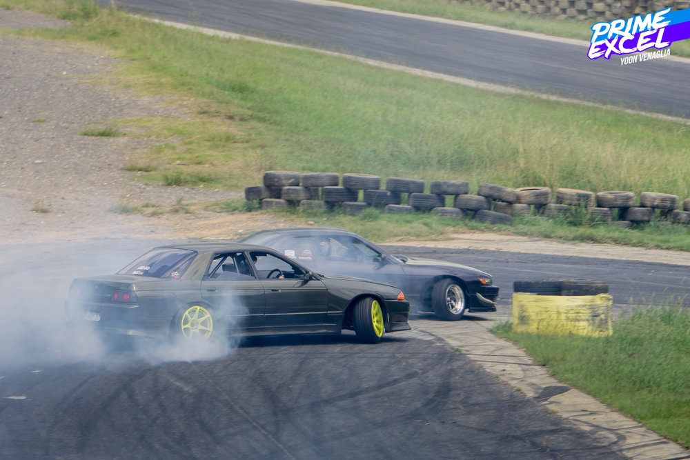 Joey in his R32 chasing down one of the Cursed Sundays boys