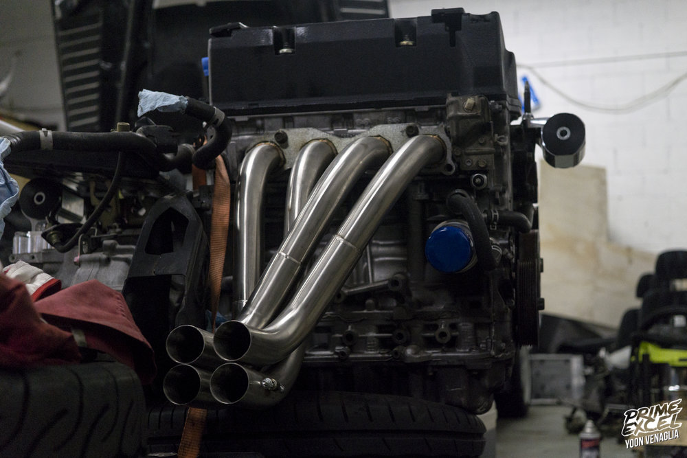 Without the collector welded on the headers gave off a very Zonda look