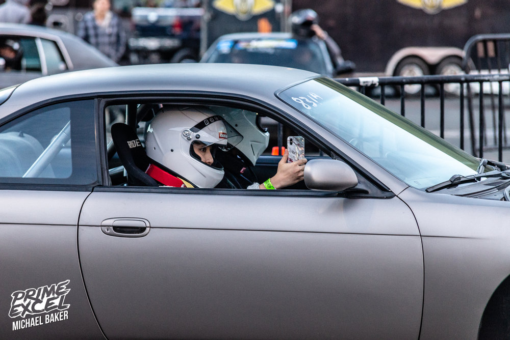 A number of people went for ride-alongs with cellphones in hand, undoubtedly recording the action for their Snapchat stories.