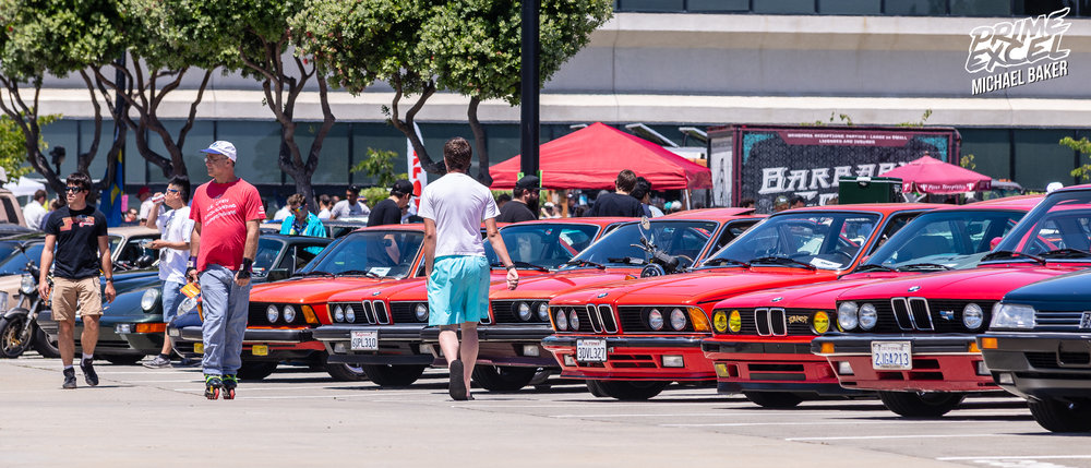 Neon shorts, roller skates and a line of rad, red BMWs. As with pretty much any NorCal car show, the BMWs were out in droves.