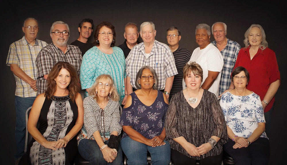 (back row) (L-R) Danny Carter, David Brooks, John Jones, Janet Filla, Richard Hume, Mark MacCauley, Charles Williams, Dianne Thomas, Richard Masters, Loretta Masters  (front row) (L-R) Amy Weison, Shaleen Scott, Olga Martinez, JoLynne Williams, Linda Flens