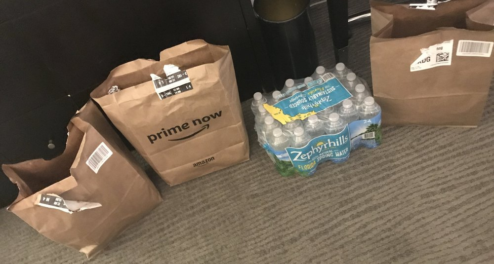Our Amazon Prime grocery order :)