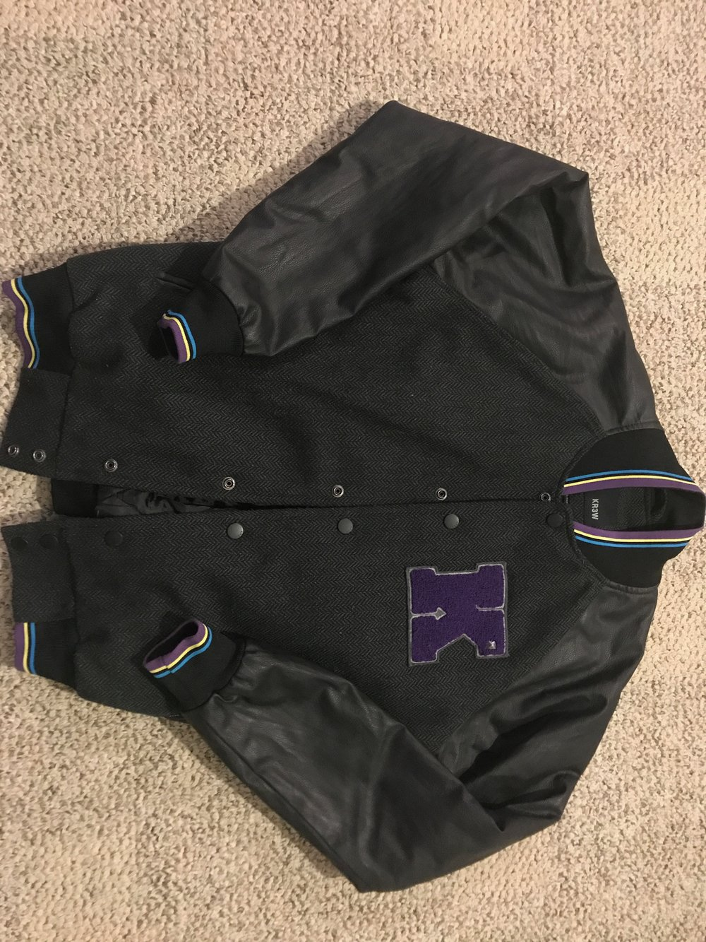 $20 GREAT CONDITION KR3W Varisty Bomber Jacket - RETAIL: $50