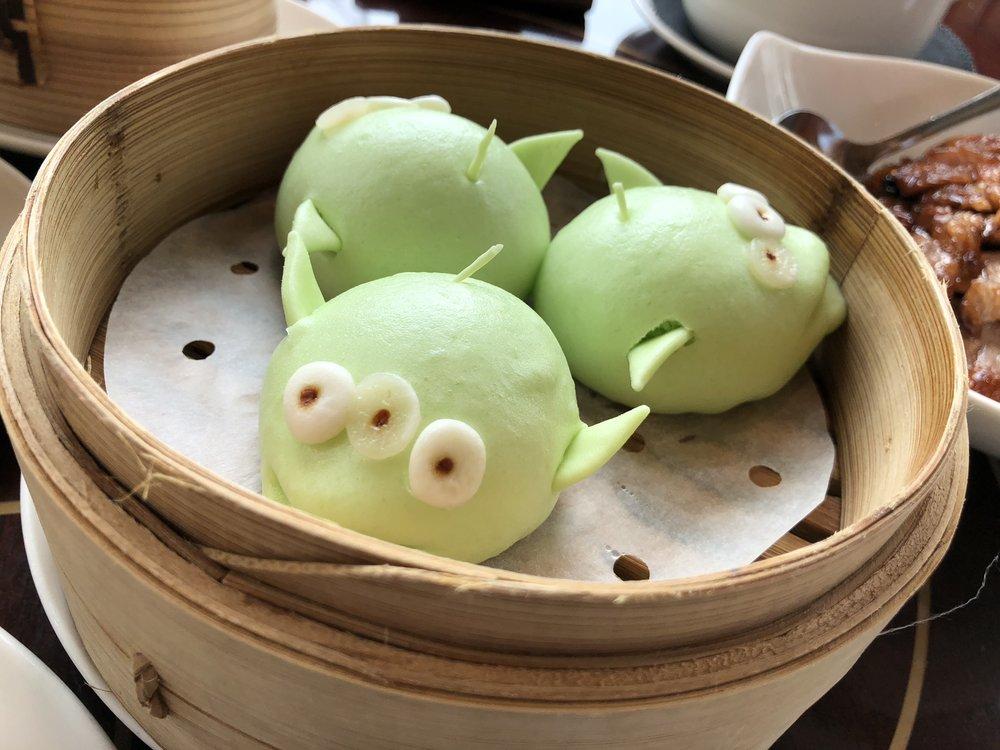 Little Green Men  - Pork and vegetable bun