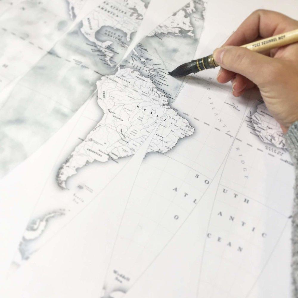 Wall Map — Sixteen Globes — News
