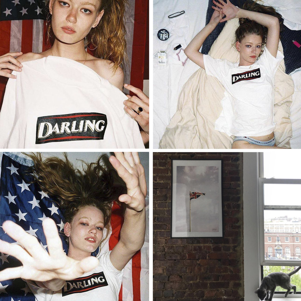 Whilst in New York, we managed to photograph the lovely  Models1  model  Hollie-May Saker  in our Darling Tee.  Photography by  Dylan Hartigan .