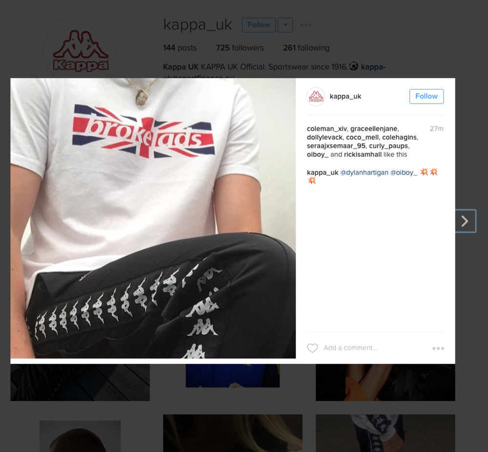We were kindly sent us some clothing from  Kappa UK  after creating our RAPPA tee then uploading one of our images to their Instagram.