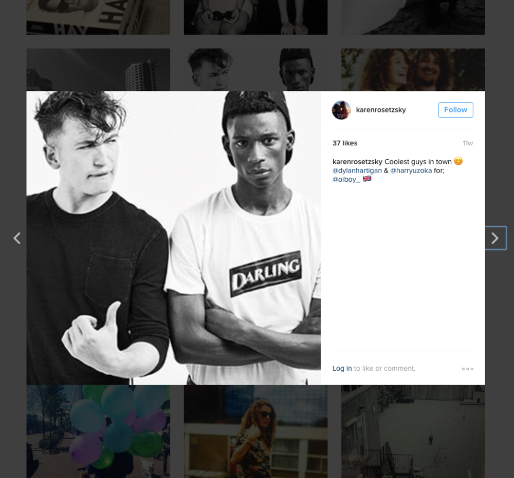 Karen Rosetzsky photographed  Dylan Hartigan  and  Harry Uzoka  in Amsterdam wearing Oiboy.  Visit Karen's website  here  and Instagram  here .