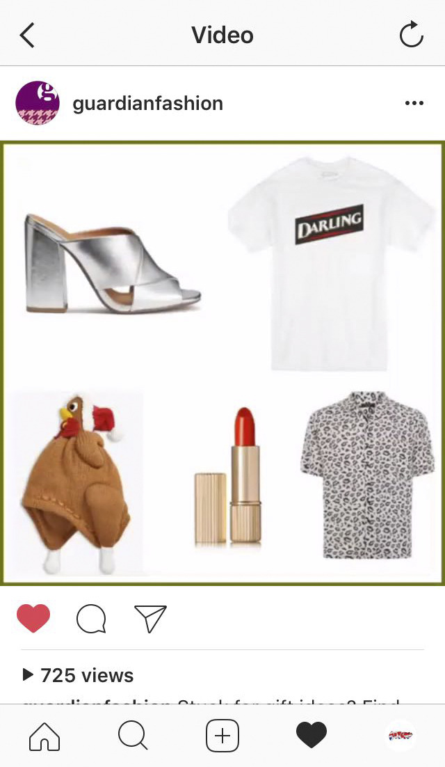 We've been featured on  The Guardian  website's online fashion section and on their Instagram page in the article:  Present and correct: 50 fashion gifts for £50 and under .