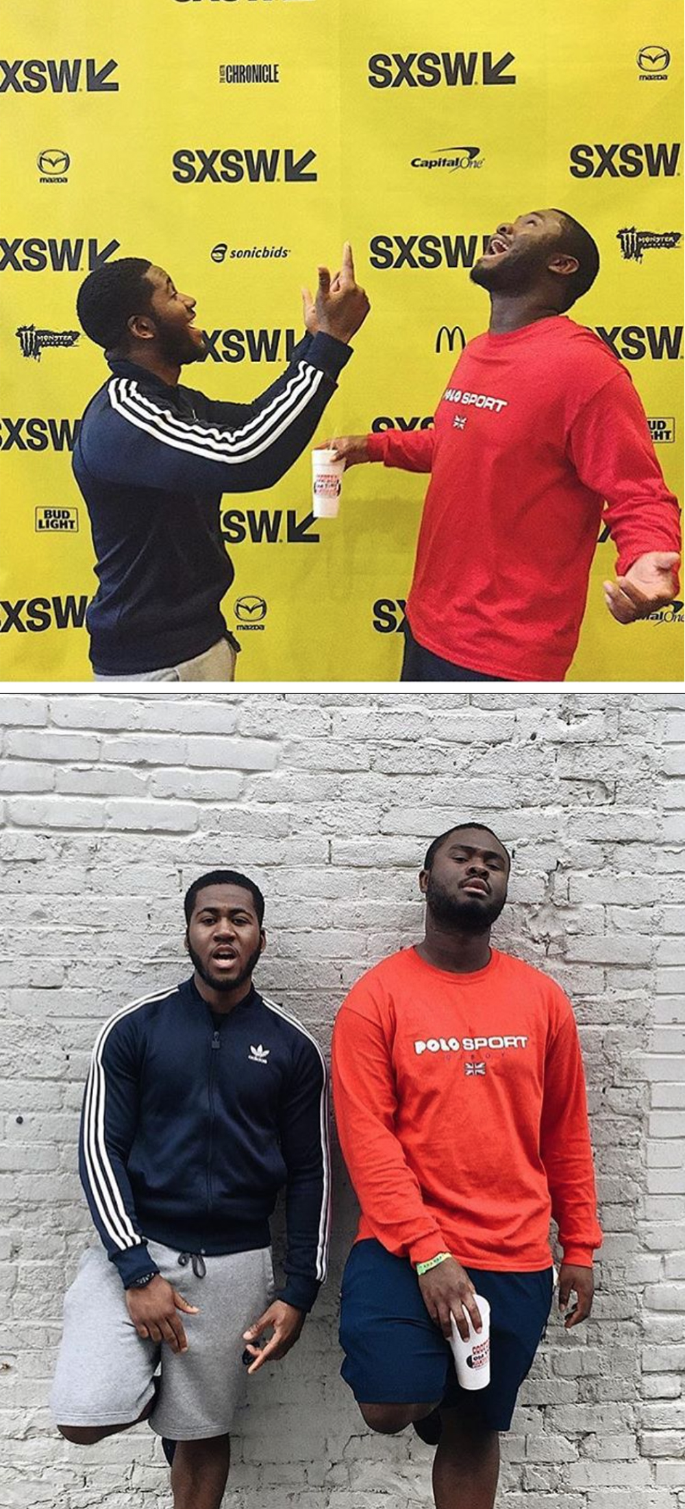 CHECK OUT THESE BOYS DOING THINGS @808INKMUSIC REPRESENTING OIBOY ACROSS THE POND AT SXSW MUSIC FESTIVAL - WEARING OUR POLO SPORT LONG SLEEVED TEE.