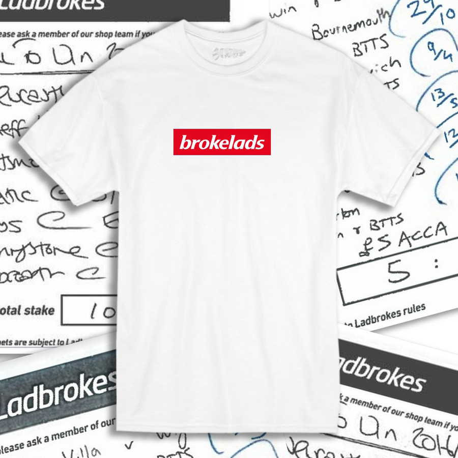 OUR ORIGINAL BROKELADS TEE IS BACK AFTER POPULAR DEMAND. ALL SIZES ARE NOW ON OUR SHOP.
