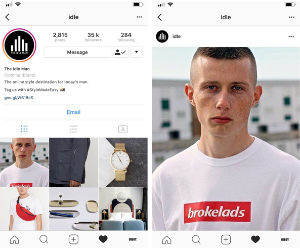 OUR BROKELADS T-SHIRT IS FEATURED ON THE IDLE MAN'S INSTAGRAM ACCOUNT, YOU CAN CHECK THEM OUT  HERE .