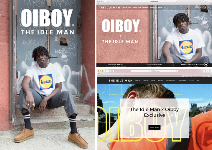 OIBOY X THE IDLE MAN EMAIL & WEBSITE TAKEOVER.