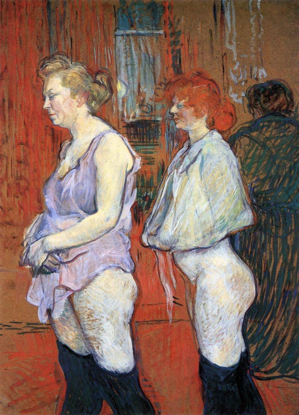 Henri de Toulouse-Lautrec,  Medical Examination, Rue des Moulins  (1894).