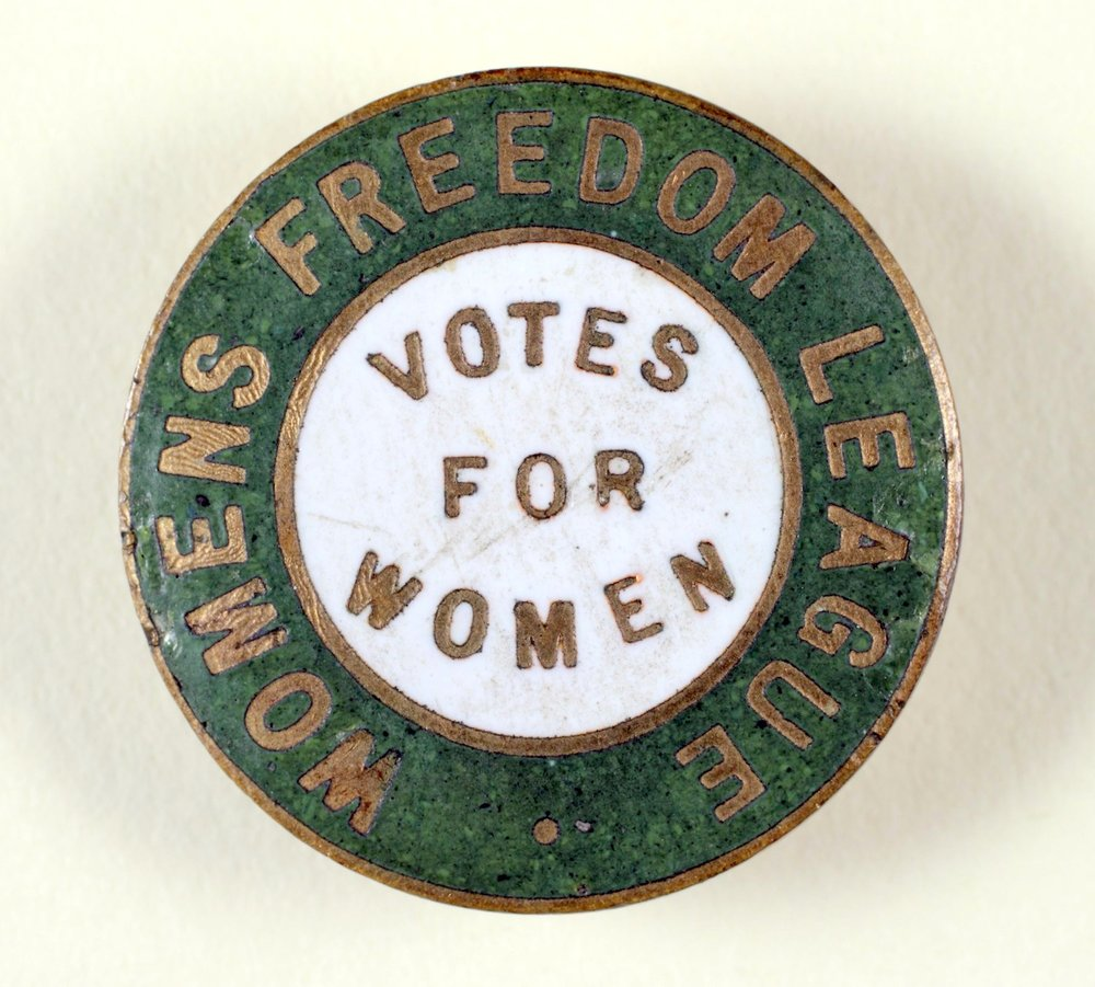 Women's Freedom League enamel badge.