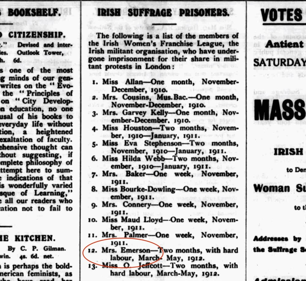The Irish Citizen, Saturday 25th May 1912. British Newspaper Archive.